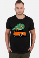 POMARAŃCZOWY MALUCH Z CHOINKĄ - kolorowa koszulka męska