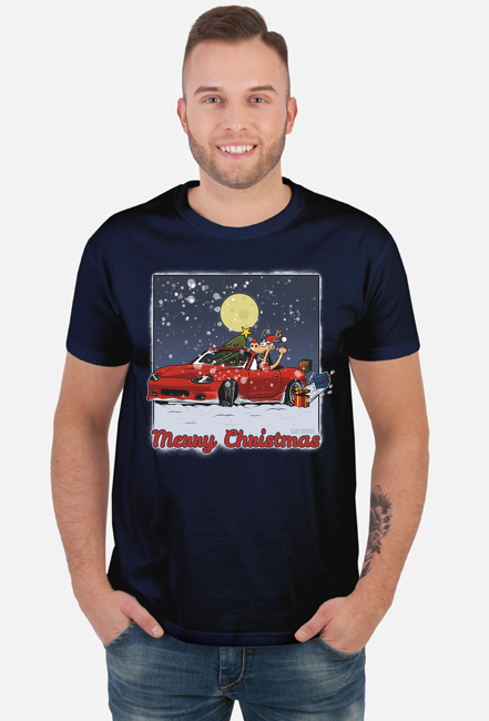 Koszulka męska - Mazda MX-5 Świąteczna - CarCorner