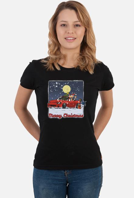 Koszulka damska - Mazda MX-5 Świąteczna - CarCorner