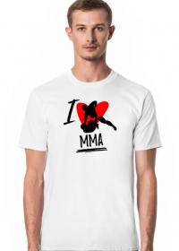 I love mma - koszulka męska z nadrukiem