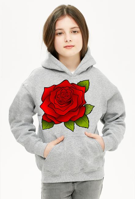 bluza z kapturem dla dziewczynki róża