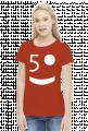 50tka! woman standard white