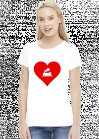 "Koszulka damska ""Kocham kolej 2"""
