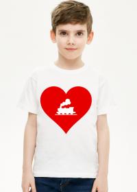 """Koszulka dziecięca """"Kocham kolej 2"""""""