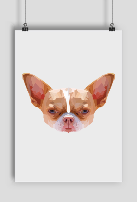 Chihuahua geometryczna plakat A2 z Twoim Zwierzakiem