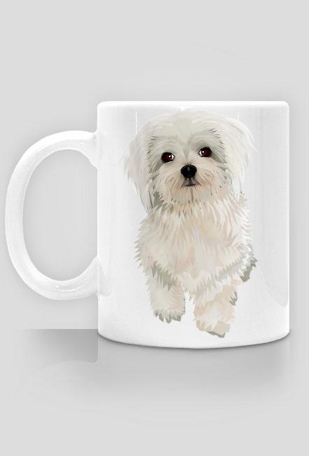 Maltańczyk Twój pies na kubku