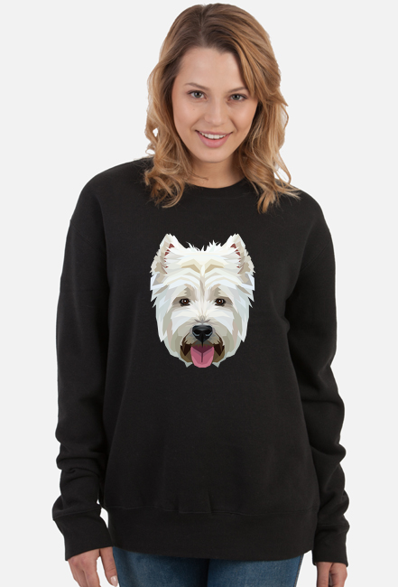West Highland White Terrier geometryczny bluza  z Twoim Zwierzakiem