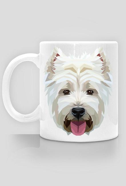 West Highland White Terrier geometryczny kubek z Twoim Zwierzakiem