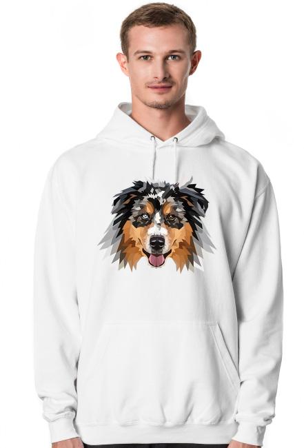 Australian Shepherd bluza z kapturem z twoim psem