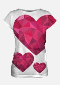 Koszulka z sercem full-print