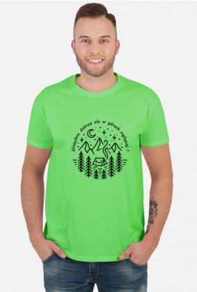 Wszędzie dobrze ale w górach najlepiej - koszulka męska góry