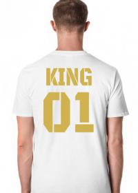 Koszulka King 01  Biała Gold