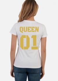 Koszulka Queen 01 Biała Gold