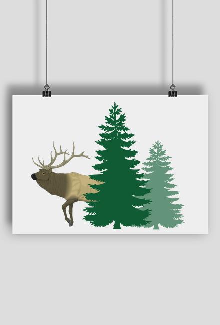 Plakat dla leśnika