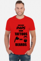 "Koszulka"" Awesome Dads Have Tattoos And Beards"""