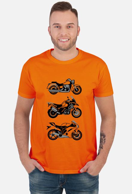 3 motorcykle koszulka