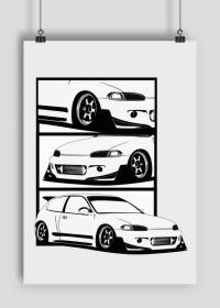 Plakat Honda Civic Pandem