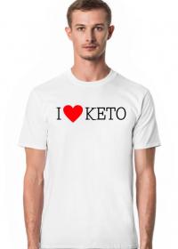 I love keto - dieta ketogeniczna - męska koszulka