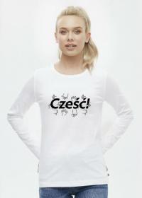 Koszulka damska - Cześć!