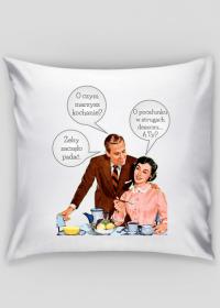 Walentynki - Marzę o pocałunku w strugach deszczu - romantyczna poszewka na poduszkę - prezent na Walentynki