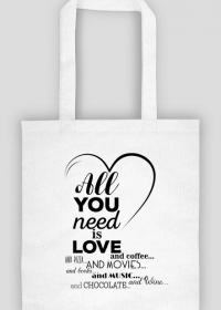 Torba na Walentynki - All you need is love