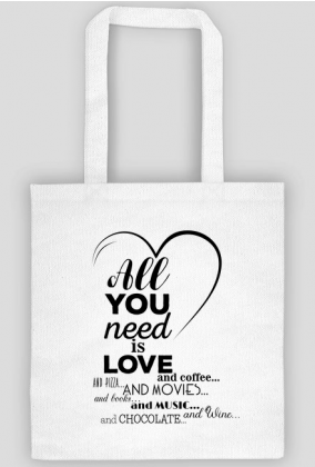 Torba na Walentynki - All you need is love