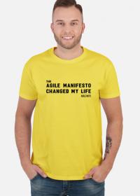 the Agile Manifesto changed my life Yellow [męska]