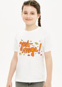 JEST MEGA! Koszulka dziecięca biała