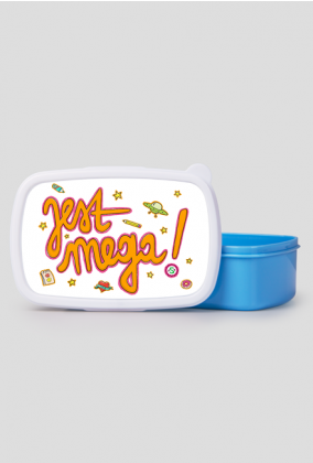 JEST MEGA! Pudełko śniadaniowe/lunch box niebieski