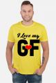 I love my girlfriend koszulka dla par walentynki