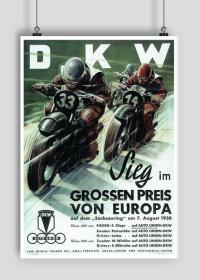 Plakat A1 59x84cm DKW vintage