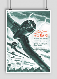 Plakat A1 59x84cm Corsair vintage