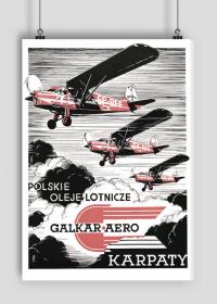 Plakat A2 42x59cm POL - Karpaty vintage
