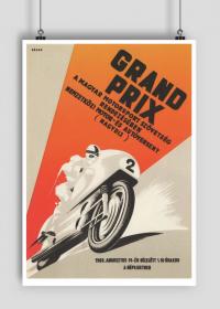 Plakat A2 42x59cm Grand Prix vintage