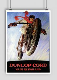 Plakat A2 42x59cm Dunlop Racing vintage