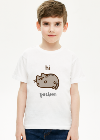 "Chłopięcy T-shirt ""Pusheen"" Wzór 5"