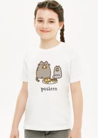 """Dziewczęcy T-shirt """"Pusheen"""" Wzór 6"""