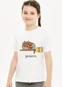 "Dziewczęcy T-shirt ""Pusheen"" Wzór 7 Harry Potter"