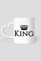 King Queen kubki dla zakochanych