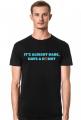Koszulka męska It's alright babe, have a donut! czarna