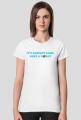Koszulka damska It's alright babe, have a donut! biała
