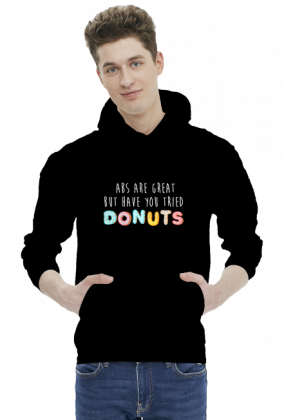 Bluza z kapturem męska ABS are great but have you tried donuts - czarna