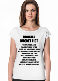 CROATIA BUCKET LIST o neck white