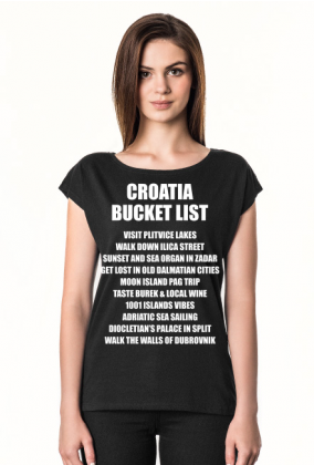 CROATIA BUCKET LIST o neck black