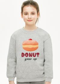 Bluza dziewczęca Donut grow up - szara