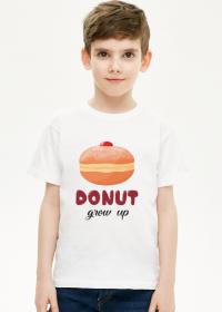 Koszulka chłopięca Donut grow up - biała