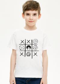 Koszulka chłopięca - pączek i krzyżyk - kolor biały