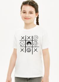 Koszulka dziewczęca - pączek i krzyżyk - kolor biały