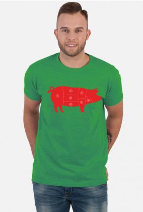 Koszulka Męska Red Pig