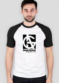 Koszulka GUMOWA AKADEMIA Break Dance Team - małe logo, czarno biała